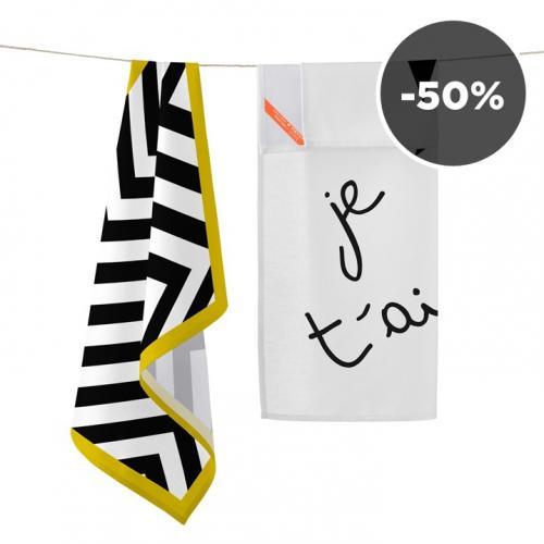 Blanc.   Stylish Tea Towels