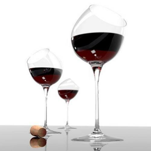 Alvaro Uribe Design | Tipsy Wine Glass