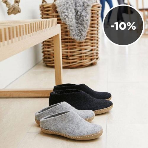 Glerups | Hygge proof: natural felt slippers