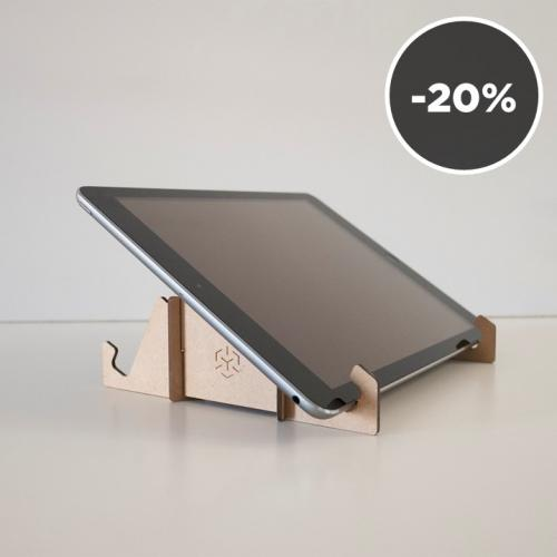Modulari | Portable wooden tablet and laptop stand