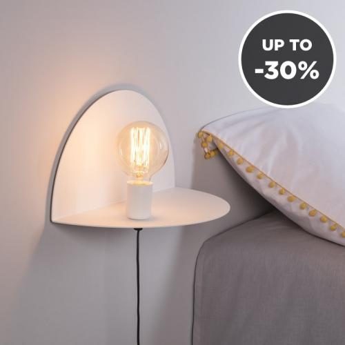 Moira | Shelf and Lamp in One