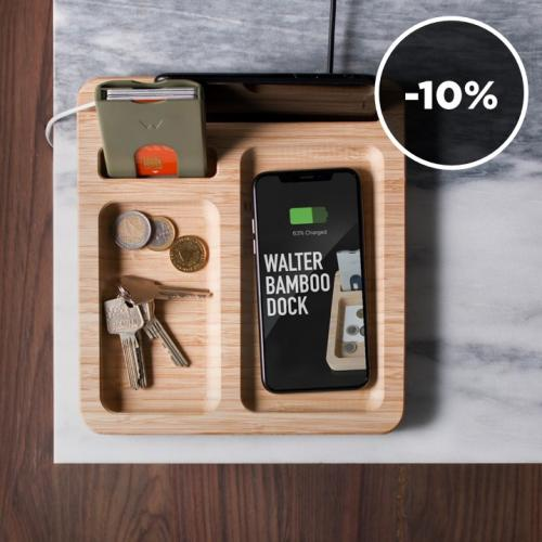 Walter Wallet | Smart Bamboo Docking Stations