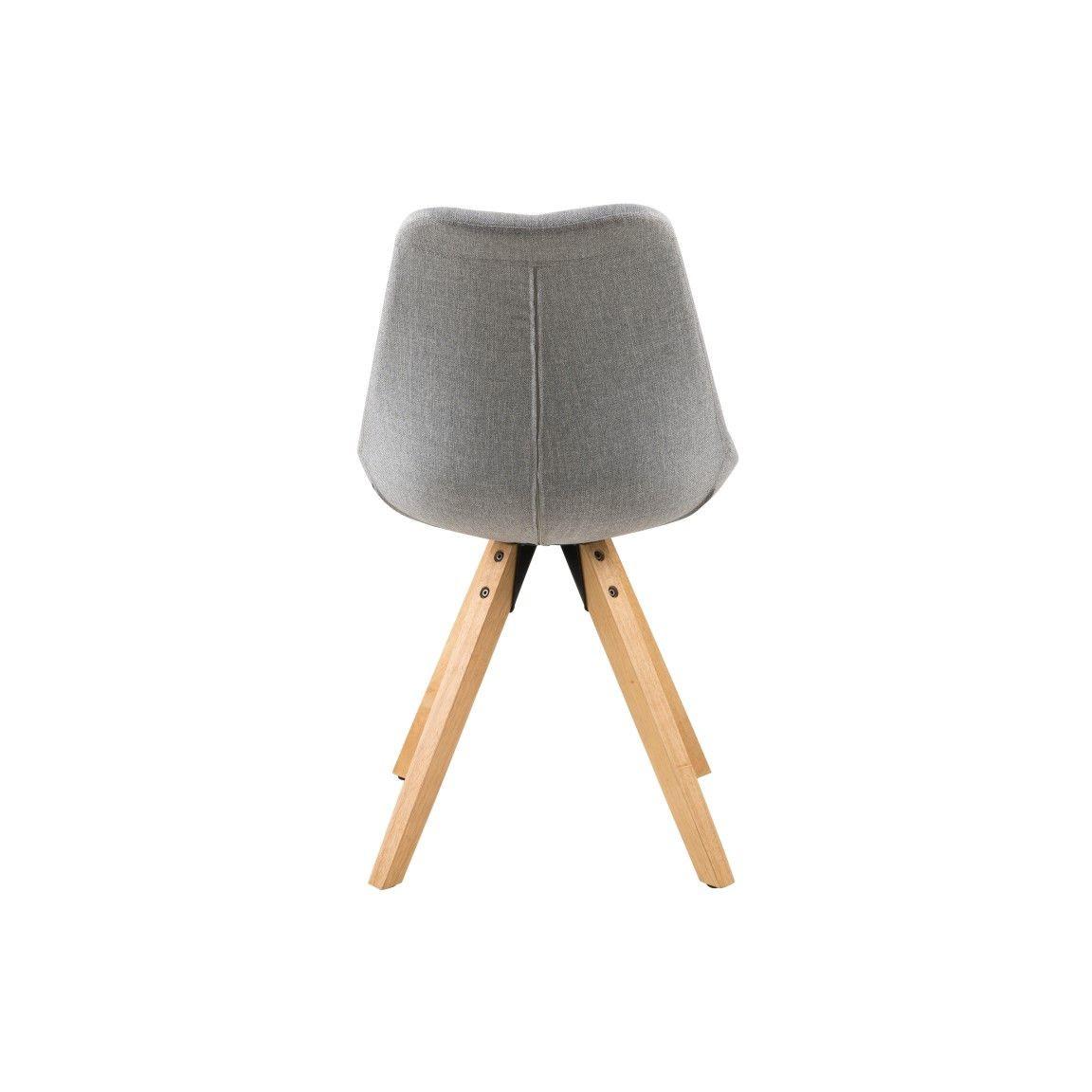 Set of 2 Chairs Nida | Grey & Wood