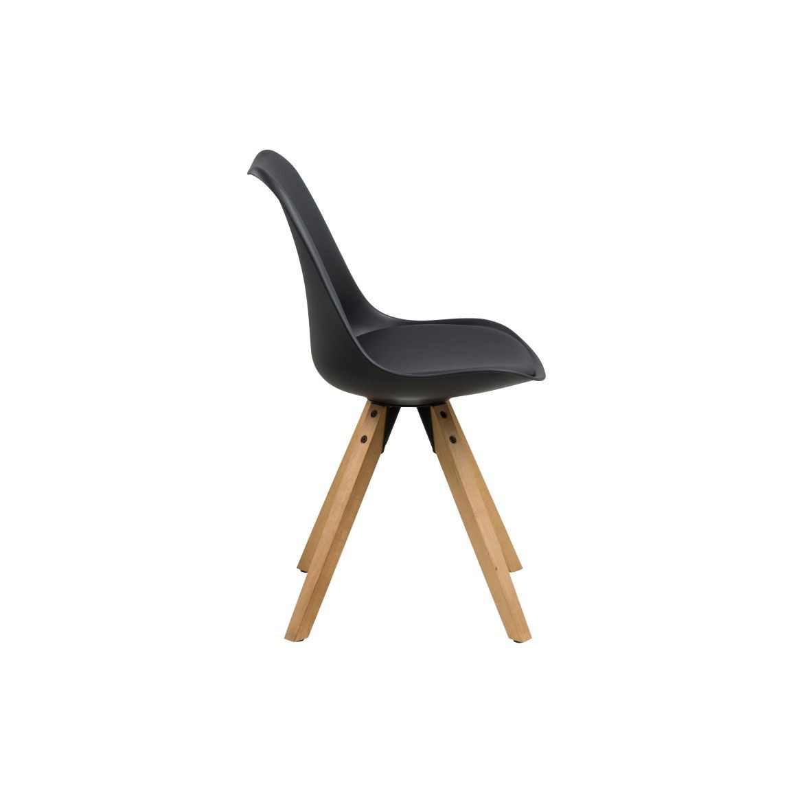 Stühle Nida | 2er-Set | Schwarz und Holz