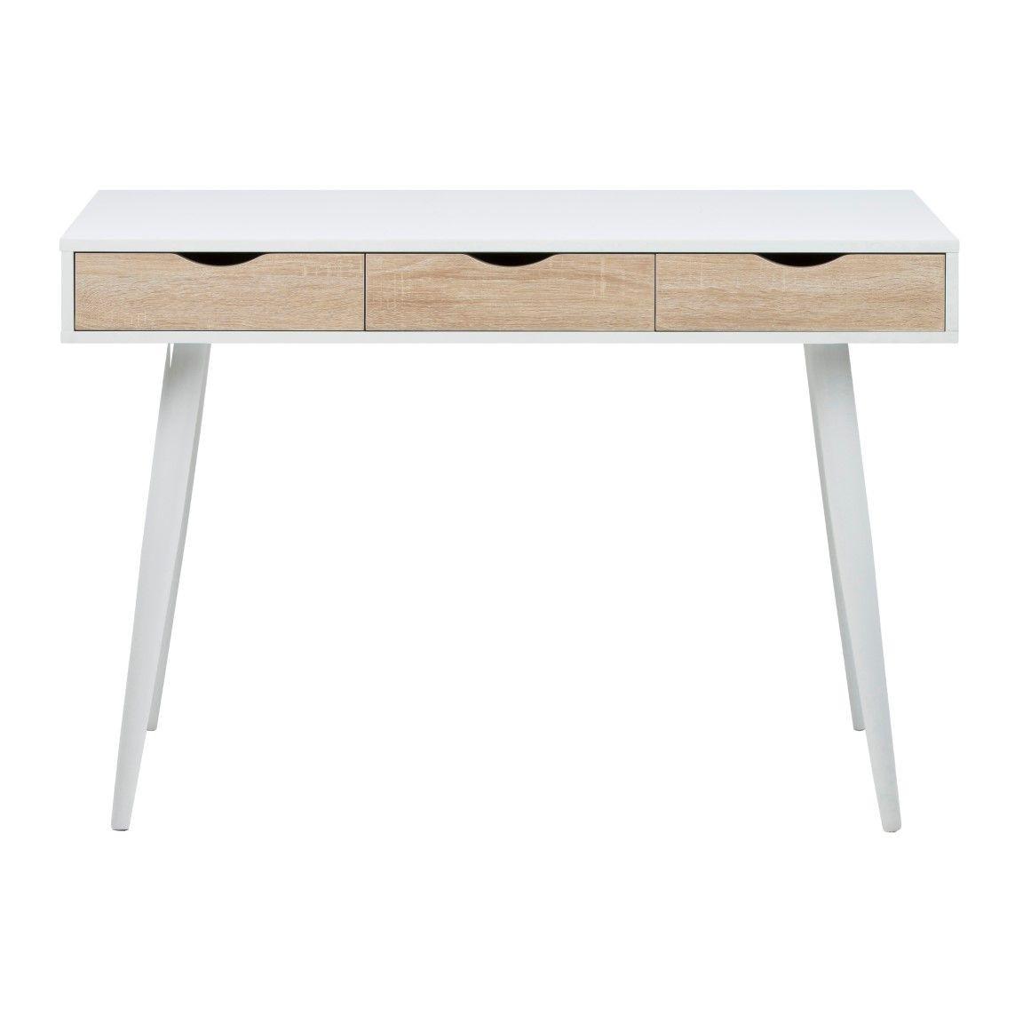 Schreibtisch Saturn | Weiß & Eiche