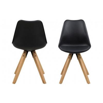 Set of 2 Chairs Nida | Black & Wood