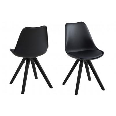 Stühle Nida 2er-Satz | Schwarz