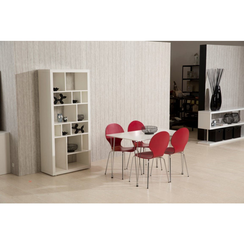 Marcus Esszimmerstühle 4er-Set   Dunkelrot