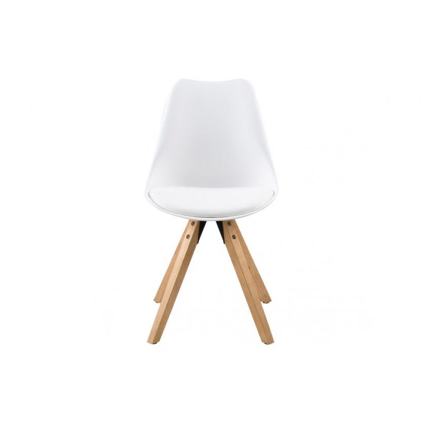 Chaises Nida Set de 2 | Blanc + Coussin Blanc