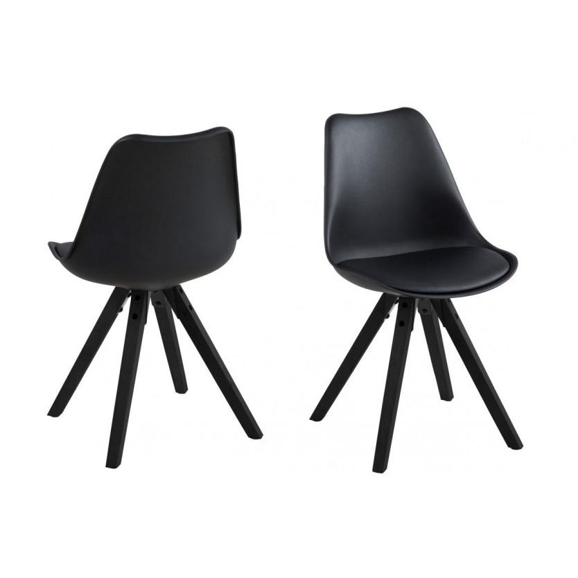 Chaises Nida Set de 2 | Noir