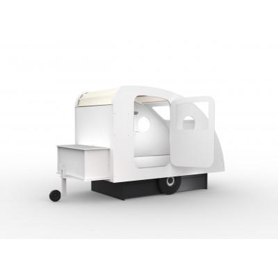 Wohnwagen Bett+Untergestell mit Schublade l Weiß
