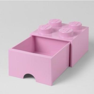 LEGO Steinschublade 4 Knöpfe (1 Schublade) | Hellviolett