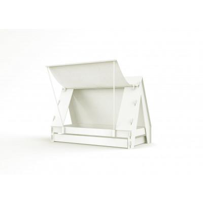 Zeltbett mit Rollboden l Weiß Base