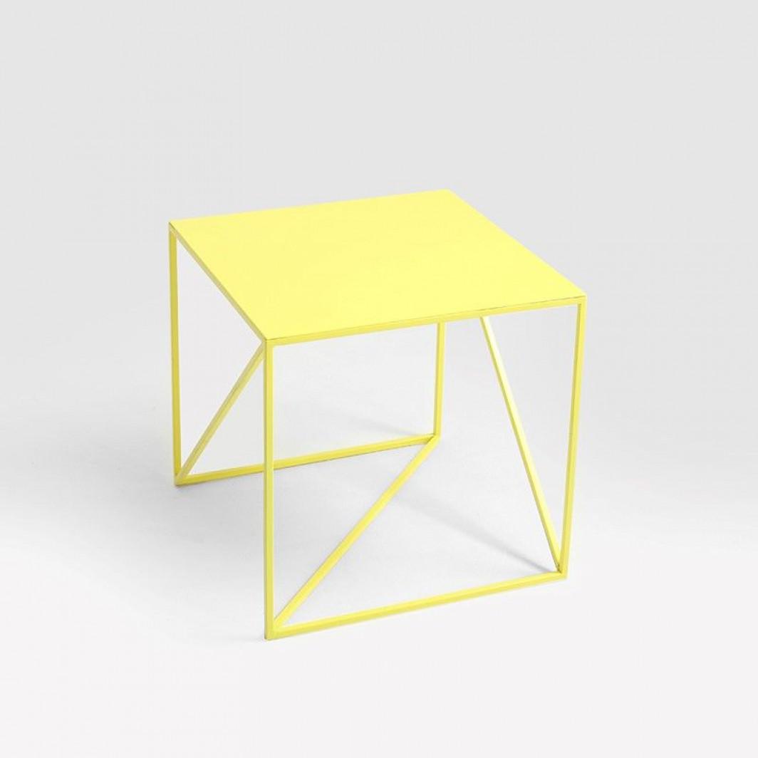 Coffee Table Memo 50 x 50 cm   Yellow