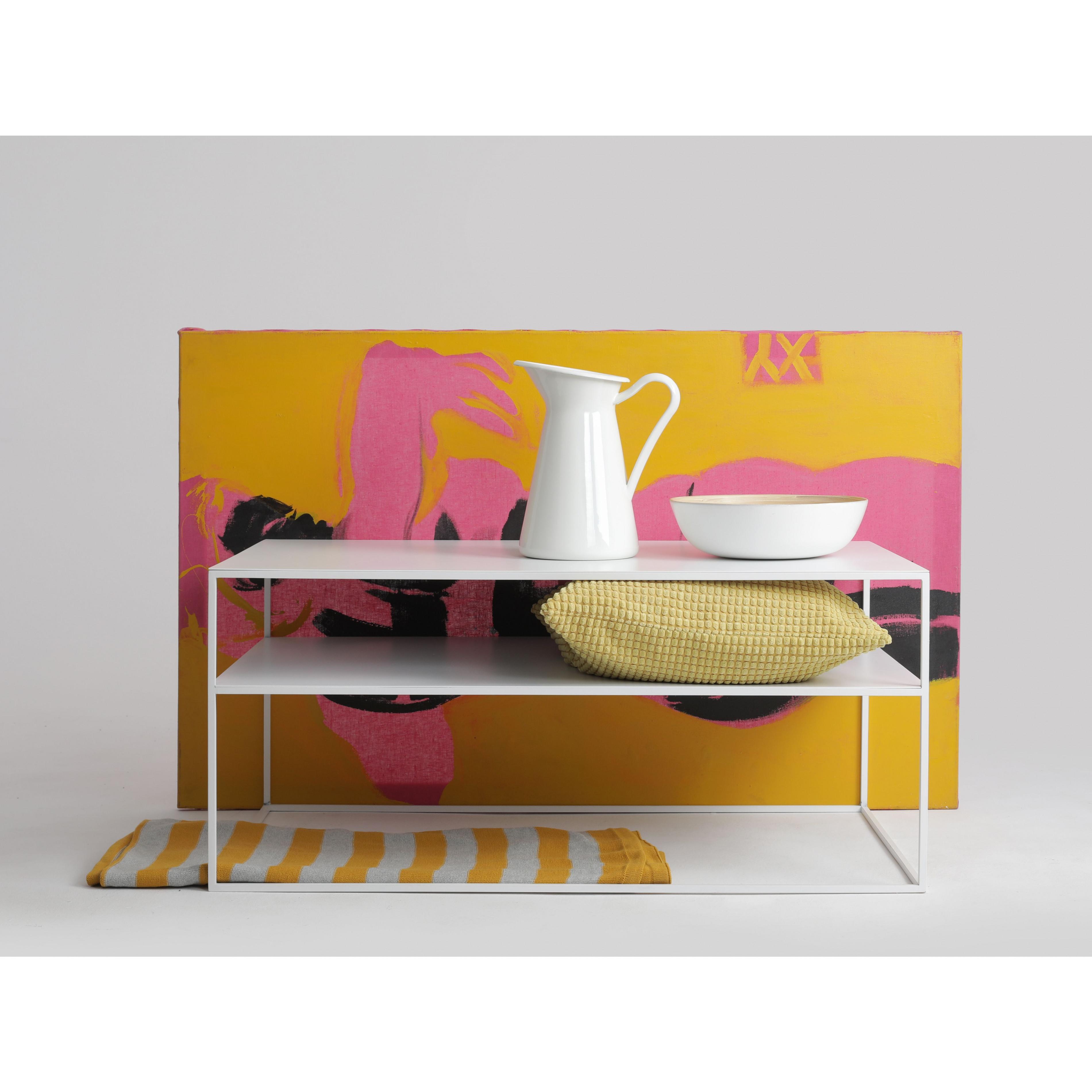 Couchtisch Tensio 2 Metall 100 x 60 cm | Weiß