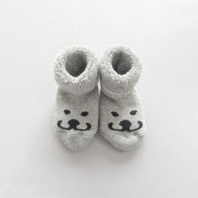 Newborn Socks Smile | Grey