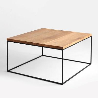 Couchtisch Tensio Holz 80 x 80 cm | Holz & Schwarz
