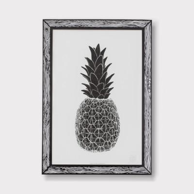 Art Print Piña | Schwarz