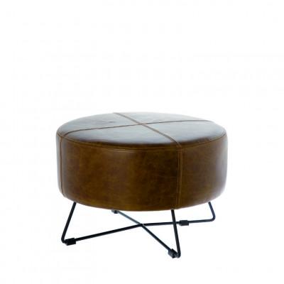 Poef Lewis | Brown Leather
