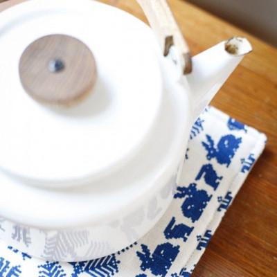 Pot Holder White/Blue