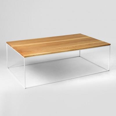 Couchtisch Tensio Holz 140 x 80 cm | Holz & Weiß