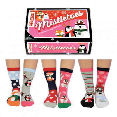 Socken Mistletoes  | 6er-Satz