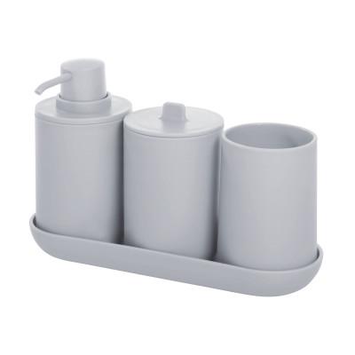 Bathroom Accessories Cade Set of 4 | Grey