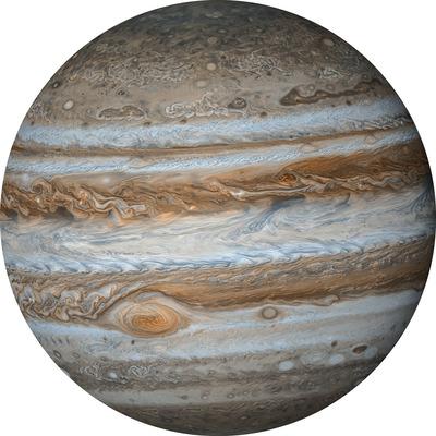 Runde Fototapete Jupiter | Mehrfarbig