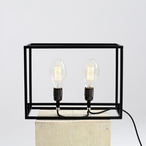 Table Lamp Metric   Black
