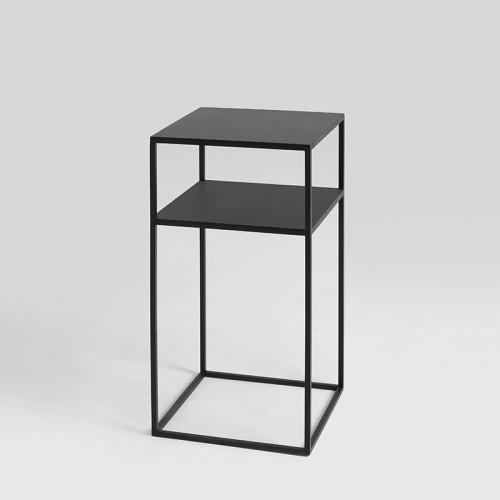 Couchtisch Tensio 2 Metall 30 x 30 cm | Schwarz