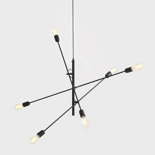 Pendant Lamp Twigo 6 | Black