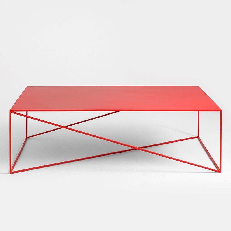 Beistelltisch Memo 140 x 80 cm   Rot