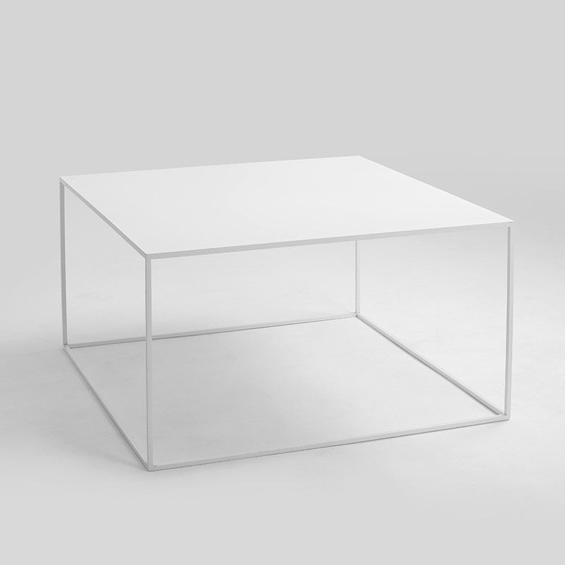 Coffee Table Tensio Metal 80 x 80 cm   White