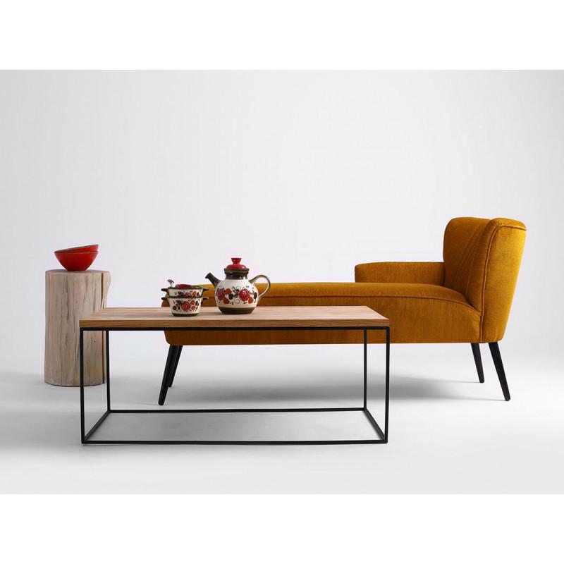 Coffee Table Tensio Wood 100 x 60 cm | Wood & Black
