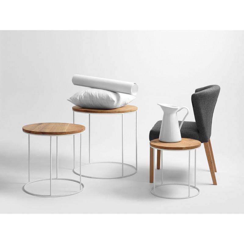 Coffee Table Trios Set of 3 | Oak, White