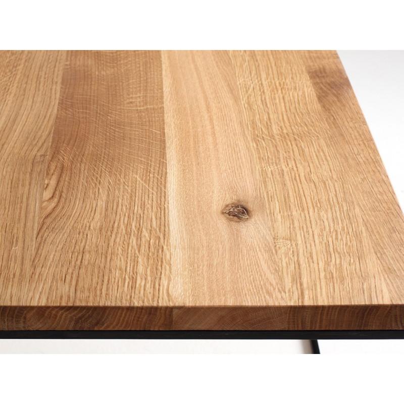 Coffee Table Tensio Wood 80 x 80 cm | Wood & Black