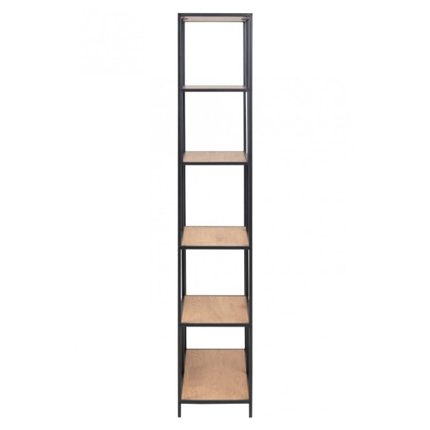 Bookcase Stanley 4 | Black / Oak