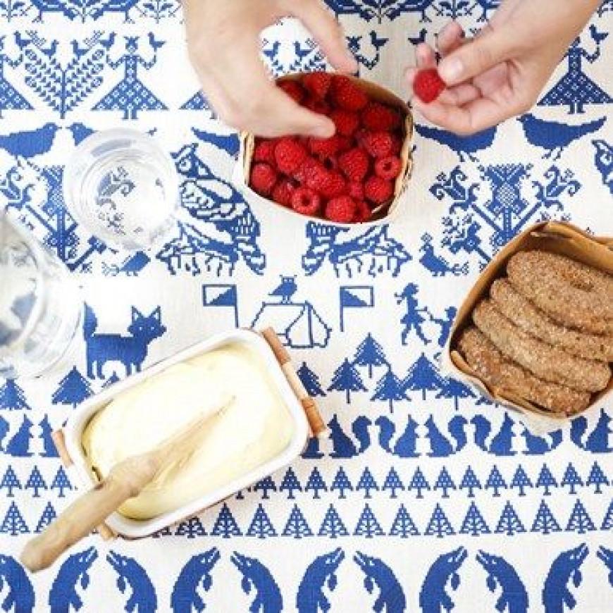 Keukenhanddoek Wit/Blauw