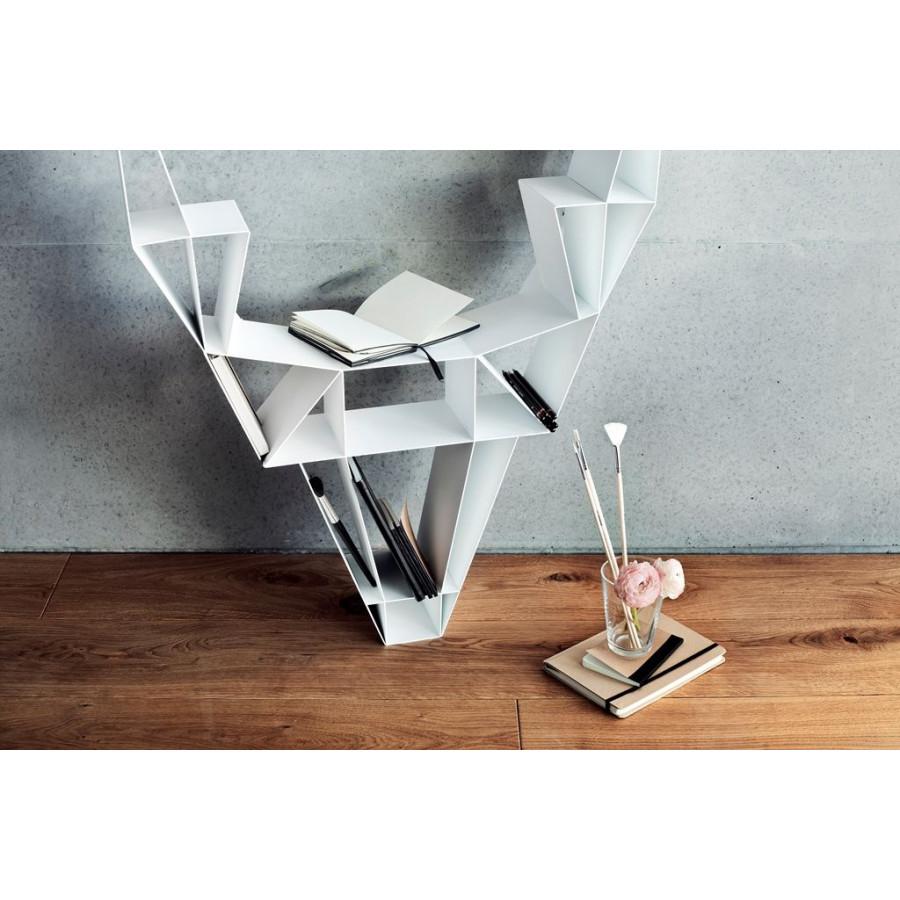 Shelf Metal Deer  Small | White