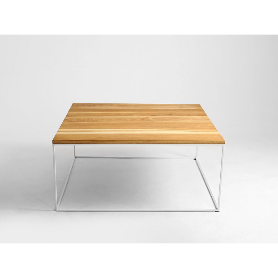 Couchtisch Tensio Holz 100 x 100 cm | Holz & Weiß