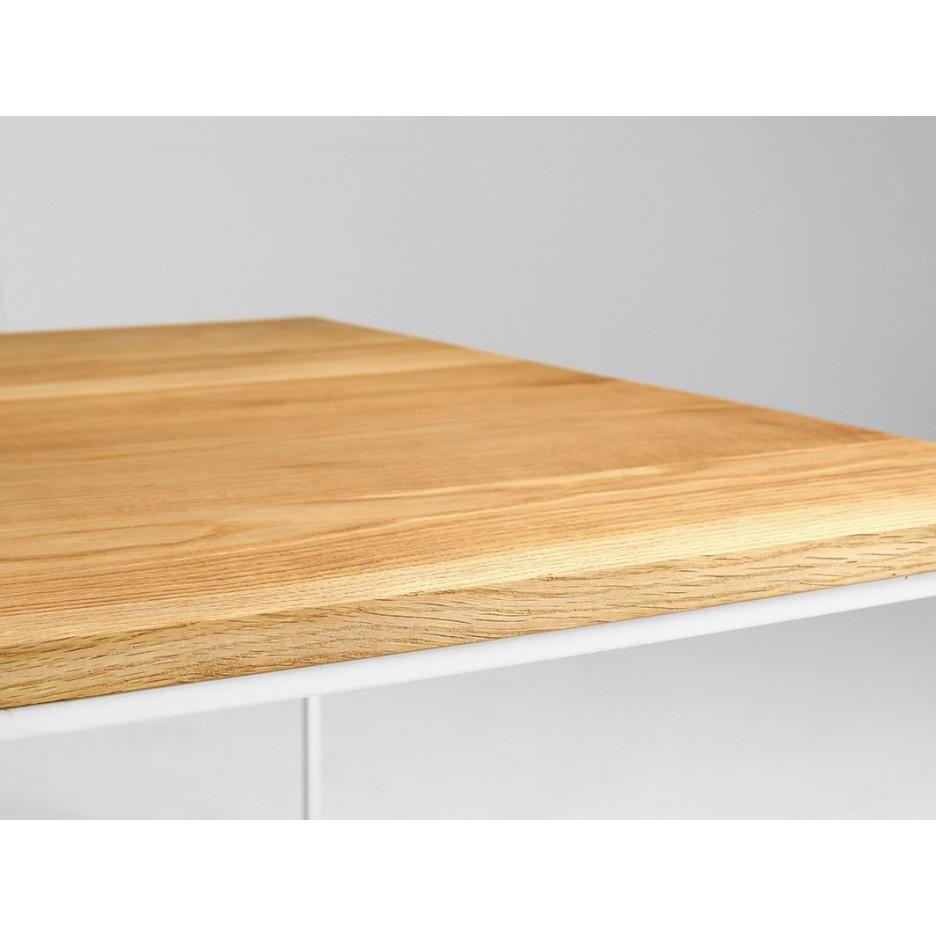 Coffee Table Tensio Wood 140 x 80 cm | Wood & White