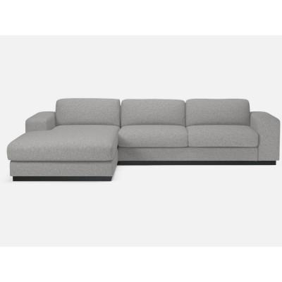 Sepia-Sofa 3-Sitzer | Chaise Longue links