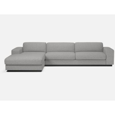 Sepia-Sofa 4-Sitzer | Chaise Longue links