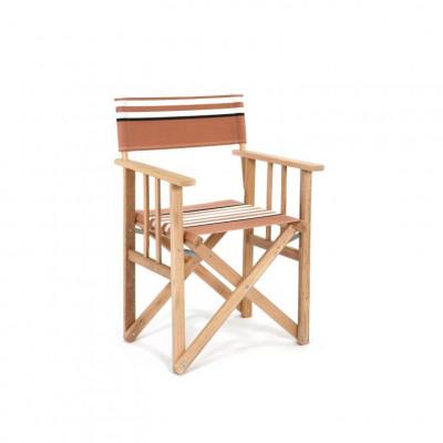 Director Chair | Beige/White/Black Canvas