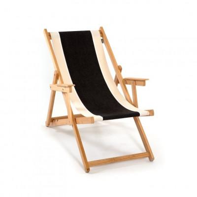 Beach Chair | Black/Natural/White Canvas