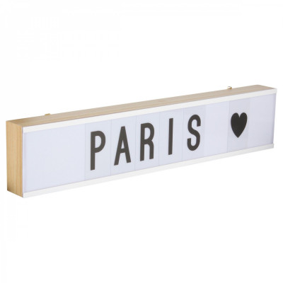 Light Box Wood XL | 60 x 12 cm