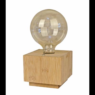 Table Lamp Cube Bamboo