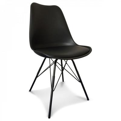 Scandi Stuhl Metall | Schwarz