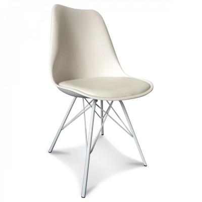 Scandi Stuhl Metall | Weiß
