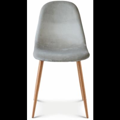 Stuhl Josef Velvet | Taupe/Holz